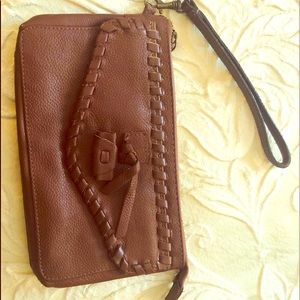 Lucky Brand Leather Wristlet purse